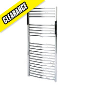 Kudox Flat Towel Radiator Chrome 1100 x 500mm 352W 1201Btu